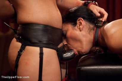 Photo number 15 from Community Dinner:Table Service shot for The Upper Floor on Kink.com. Featuring Dylan Ryan, Beretta James and Iona Grace in hardcore BDSM & Fetish porn.