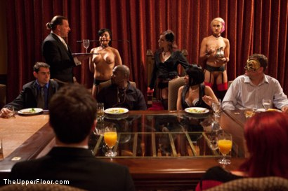 Photo number 1 from Community Dinner:Table Service shot for The Upper Floor on Kink.com. Featuring Dylan Ryan, Beretta James and Iona Grace in hardcore BDSM & Fetish porn.