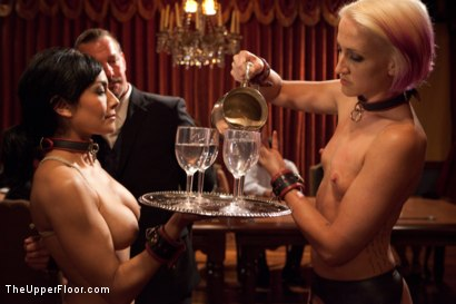 Photo number 2 from Community Dinner:Table Service shot for The Upper Floor on Kink.com. Featuring Dylan Ryan, Beretta James and Iona Grace in hardcore BDSM & Fetish porn.
