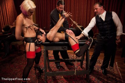 Photo number 4 from Community Dinner:Table Service shot for The Upper Floor on Kink.com. Featuring Dylan Ryan, Beretta James and Iona Grace in hardcore BDSM & Fetish porn.
