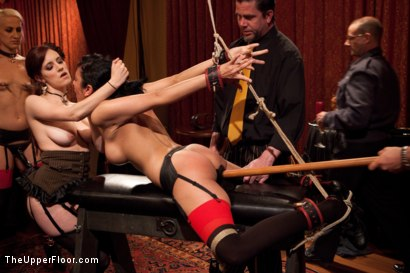 Photo number 6 from Community Dinner:Table Service shot for The Upper Floor on Kink.com. Featuring Dylan Ryan, Beretta James and Iona Grace in hardcore BDSM & Fetish porn.