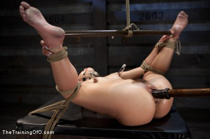 Photo number 12 from 50 Shades of...<br>Slave Training of Kristina Rose shot for The Training Of O on Kink.com. Featuring Kristina Rose, Naidyne, Coral Aorta and Ruby Song in hardcore BDSM & Fetish porn.