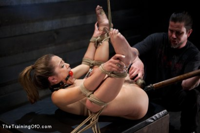 Photo number 17 from 50 Shades of...<br>Slave Training of Kristina Rose shot for The Training Of O on Kink.com. Featuring Kristina Rose, Naidyne, Coral Aorta and Ruby Song in hardcore BDSM & Fetish porn.