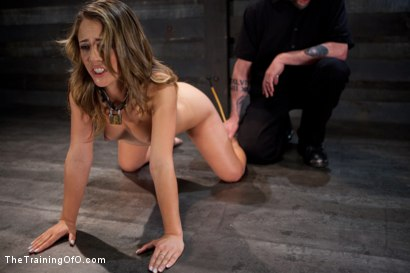 Photo number 3 from Slave Training of Kristina Rose<br>Day 3 shot for The Training Of O on Kink.com. Featuring Kristina Rose in hardcore BDSM & Fetish porn.