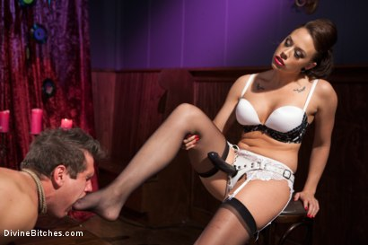 Photo number 7 from A Divinely Humiliating Melodrama shot for Divine Bitches on Kink.com. Featuring Chanel Preston and Parker London in hardcore BDSM & Fetish porn.