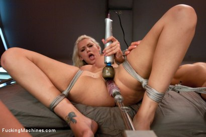 Photo number 4 from American: Land of the Brave, Home of the Blonde Bombshells in Bondage shot for Fucking Machines on Kink.com. Featuring Katie Summers, Anikka Albrite and Princess Donna Dolore in hardcore BDSM & Fetish porn.