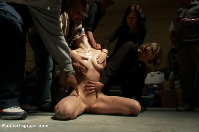 Photo number 2 from Emo Babe Fucked in Public by James Deen shot for Public Disgrace on Kink.com. Featuring Coral Aorta and James Deen in hardcore BDSM & Fetish porn.