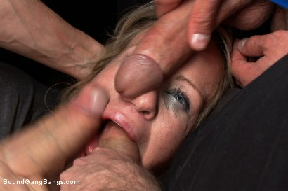 Photo number 4 from Hey Mrs. S: MILFTASTIC FEATURE SHOOT shot for Bound Gang Bangs on Kink.com. Featuring Simone Sonay, Dane Cross, Owen Gray, Danny Wylde, Seth Storm, James Deen and Rob Blu in hardcore BDSM & Fetish porn.