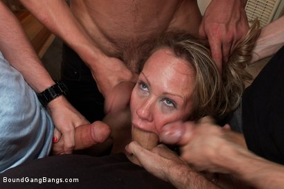 Photo number 8 from Hey Mrs. S: MILFTASTIC FEATURE SHOOT shot for Bound Gang Bangs on Kink.com. Featuring Simone Sonay, Dane Cross, Owen Gray, Danny Wylde, Seth Storm, James Deen and Rob Blu in hardcore BDSM & Fetish porn.
