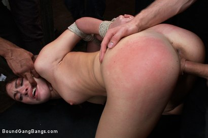 Photo number 1 from Gorgeous French Girl Taken Down in Rough Gangbang  shot for Bound Gang Bangs on Kink.com. Featuring Tiffany Doll, Karlo Karrera, Mark Davis, Danny Wylde, Mickey Mod and Owen Gray in hardcore BDSM & Fetish porn.