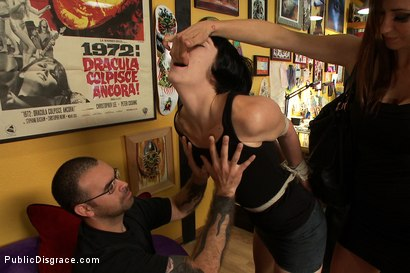 Photo number 2 from First Anal, First Fisting, Tattooed for Life!!!! shot for Public Disgrace on Kink.com. Featuring Mr. Pete and Coral Aorta in hardcore BDSM & Fetish porn.