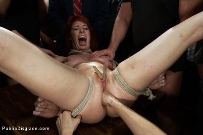 Photo number 7 from Redheaded Slut Ass Fucked at Crowded Party shot for Public Disgrace on Kink.com. Featuring Odile and Mark Davis in hardcore BDSM & Fetish porn.