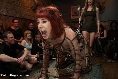 Photo number 1 from Redheaded Slut Ass Fucked at Crowded Party shot for Public Disgrace on Kink.com. Featuring Odile and Mark Davis in hardcore BDSM & Fetish porn.