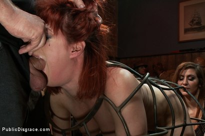 Photo number 3 from Redheaded Slut Ass Fucked at Crowded Party shot for Public Disgrace on Kink.com. Featuring Odile and Mark Davis in hardcore BDSM & Fetish porn.