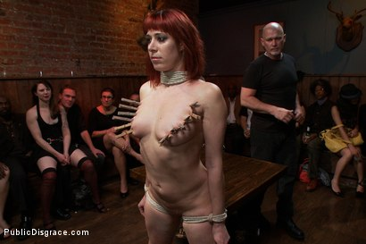 Photo number 5 from Redheaded Slut Ass Fucked at Crowded Party shot for Public Disgrace on Kink.com. Featuring Odile and Mark Davis in hardcore BDSM & Fetish porn.