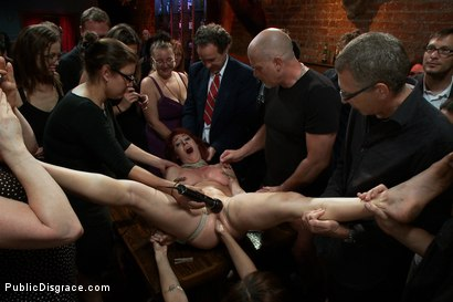 Photo number 8 from Redheaded Slut Ass Fucked at Crowded Party shot for Public Disgrace on Kink.com. Featuring Odile and Mark Davis in hardcore BDSM & Fetish porn.