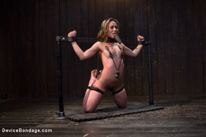 Photo number 5 from Kristina Rose - Filthy Whore - Live Show Part 1 shot for Device Bondage on Kink.com. Featuring Kristina Rose and Isis Love in hardcore BDSM & Fetish porn.