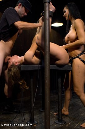 Photo number 4 from Kristina Rose - Filthy Whore - Live Show Part 4 shot for Device Bondage on Kink.com. Featuring Kristina Rose and Isis Love in hardcore BDSM & Fetish porn.