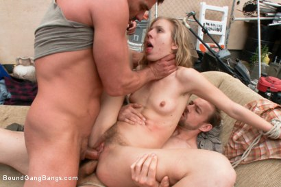 "Photo number 9 from ""The Best Nightmare on Earth"" Featuring Chastity Lynn in her First Released Gangbang shot for Bound Gang Bangs on Kink.com. Featuring Chastity Lynn and James Deen in hardcore BDSM & Fetish porn."