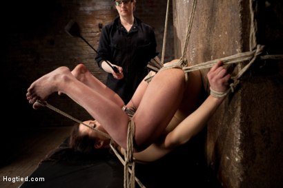 Photo number 3 from Hot Young Bryn Blayne Bound and Fucked in Every Hole shot for Hogtied on Kink.com. Featuring Bryn Blayne in hardcore BDSM & Fetish porn.