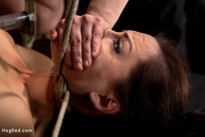 Photo number 2 from Hot Young Bryn Blayne Bound and Fucked in Every Hole shot for Hogtied on Kink.com. Featuring Bryn Blayne in hardcore BDSM & Fetish porn.