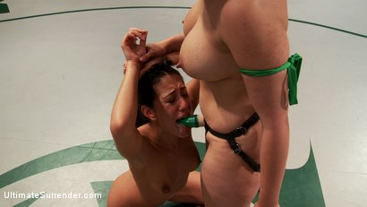 Photo number 14 from Veteran vs Season 9 Rookie: Who will end up getting their pussy railed on the mat? shot for Ultimate Surrender on Kink.com. Featuring Penny Barber and Lyla Storm in hardcore BDSM & Fetish porn.