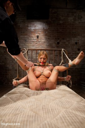 Photo number 8 from Krissy Lynn gets the fuck of her dreams.... shot for Hogtied on Kink.com. Featuring Krissy Lynn in hardcore BDSM & Fetish porn.