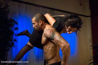 Photo number 8 from Punished Masseuse shot for Sex And Submission on Kink.com. Featuring London Keyes and Karlo Karrera in hardcore BDSM & Fetish porn.