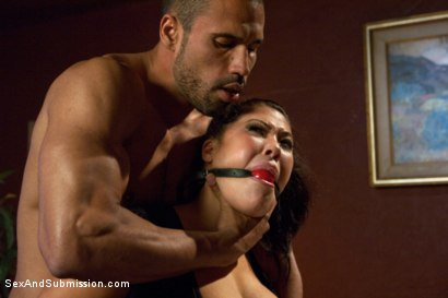 Photo number 3 from Punished Masseuse shot for Sex And Submission on Kink.com. Featuring London Keyes and Karlo Karrera in hardcore BDSM & Fetish porn.