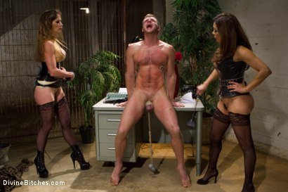 Photo number 5 from New Meat, New Challenges, Divine Satisfaction shot for Divine Bitches on Kink.com. Featuring Francesca Le , Felony and Brian Bonds in hardcore BDSM & Fetish porn.