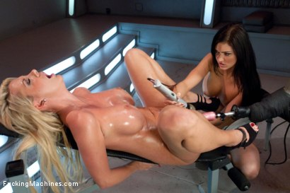Photo number 5 from BIG TIT Party: Double D's and FuckingMachines shot for Fucking Machines on Kink.com. Featuring Courtney Taylor and Kendall Karson in hardcore BDSM & Fetish porn.