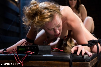 Photo number 7 from Fucking Electrical Threeway! shot for Electro Sluts on Kink.com. Featuring Penny Pax, Lizzy London and Bobbi Starr in hardcore BDSM & Fetish porn.