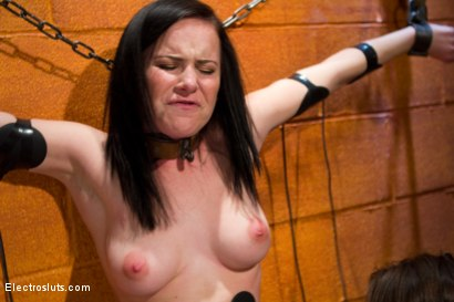 Photo number 5 from Her Very First Time shot for Electro Sluts on Kink.com. Featuring Katie St. Ives and Bobbi Starr in hardcore BDSM & Fetish porn.