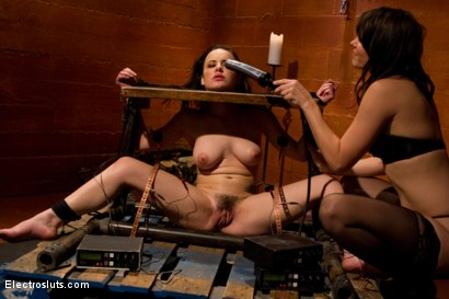 Photo number 7 from Katie St. Ives, Bound Tight and Shocked! shot for Electro Sluts on Kink.com. Featuring Katie St. Ives and Bobbi Starr in hardcore BDSM & Fetish porn.