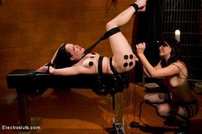Photo number 7 from Tickle Fuck shot for Electro Sluts on Kink.com. Featuring Katie St. Ives and Bobbi Starr in hardcore BDSM & Fetish porn.