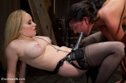 Photo number 8 from Cassandra Get a Hard Sign Off from an Electro-Lez Strap-on! shot for Electro Sluts on Kink.com. Featuring Aiden Starr, Bobbi Starr, Isis Love and Cassandra Nix in hardcore BDSM & Fetish porn.