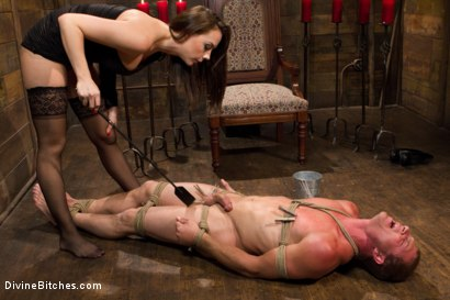 Photo number 4 from A Divine Introduction shot for Divine Bitches on Kink.com. Featuring Troy Halston and Chanel Preston in hardcore BDSM & Fetish porn.