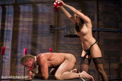 Photo number 7 from A Divine Introduction shot for Divine Bitches on Kink.com. Featuring Troy Halston and Chanel Preston in hardcore BDSM & Fetish porn.