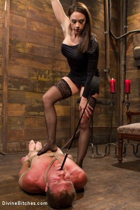 Photo number 14 from A Divine Introduction shot for Divine Bitches on Kink.com. Featuring Troy Halston and Chanel Preston in hardcore BDSM & Fetish porn.