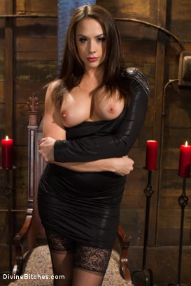 Photo number 1 from A Divine Introduction shot for Divine Bitches on Kink.com. Featuring Troy Halston and Chanel Preston in hardcore BDSM & Fetish porn.