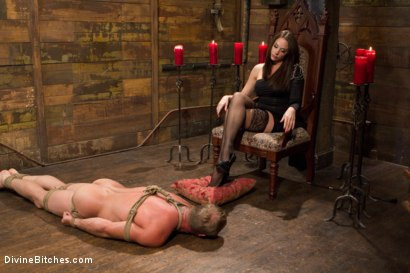 Photo number 11 from A Divine Introduction shot for Divine Bitches on Kink.com. Featuring Troy Halston and Chanel Preston in hardcore BDSM & Fetish porn.