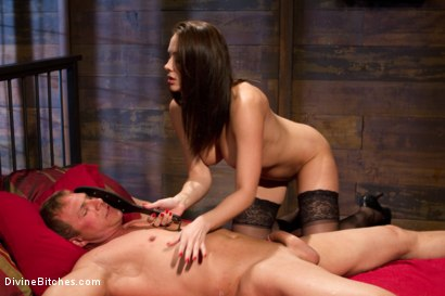 Photo number 13 from A Divine Introduction shot for Divine Bitches on Kink.com. Featuring Troy Halston and Chanel Preston in hardcore BDSM & Fetish porn.