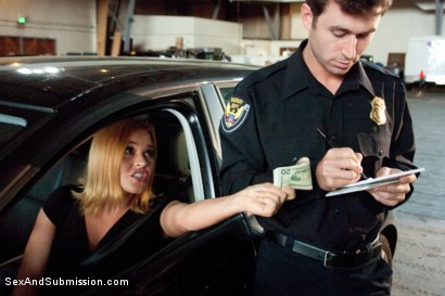 Photo number 1 from Bribing an Officer: Business Woman Arrested and Ass Fucked in Bondage! shot for Sex And Submission on Kink.com. Featuring James Deen and Krissy Lynn in hardcore BDSM & Fetish porn.