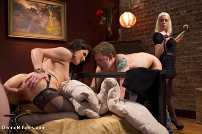Photo number 13 from Cuckold Surprise! shot for Divine Bitches on Kink.com. Featuring Lorelei Lee, Bobbi Starr, Shaun Diesel  and Sebastian Keys in hardcore BDSM & Fetish porn.