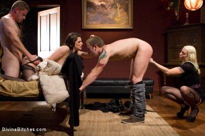 Photo number 2 from Cuckold Surprise! shot for Divine Bitches on Kink.com. Featuring Lorelei Lee, Bobbi Starr, Shaun Diesel  and Sebastian Keys in hardcore BDSM & Fetish porn.
