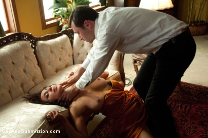 "Photo number 2 from ""Spy vs Spy: The Medvedenko Affair""  A Feature Presentation shot for Sex And Submission on Kink.com. Featuring Princess Donna Dolore and James Deen in hardcore BDSM & Fetish porn."