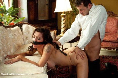 "Photo number 6 from ""Spy vs Spy: The Medvedenko Affair""  A Feature Presentation shot for Sex And Submission on Kink.com. Featuring Princess Donna Dolore and James Deen in hardcore BDSM & Fetish porn."