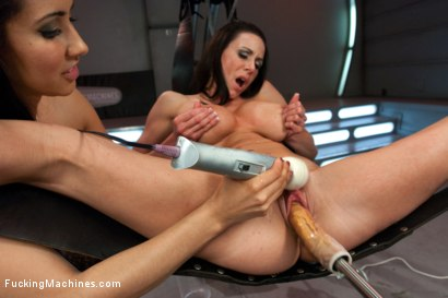 Photo number 3 from Isis Love Pussy to Pussy with Kendra May Lust: Squeezing breast milk out of her tits While fucking  shot for Fucking Machines on Kink.com. Featuring Kendra May Lust and Isis Love in hardcore BDSM & Fetish porn.