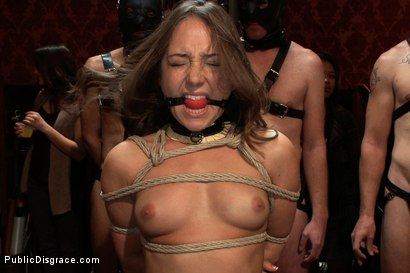 Photo number 3 from Princess Donna's Birthday Bash Part 1!!!!! shot for Public Disgrace on Kink.com. Featuring Remy LaCroix and James Deen in hardcore BDSM & Fetish porn.