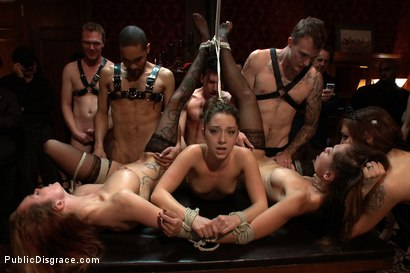 Photo number 2 from Princess Donna's Birthday Bash Part 2!!!! shot for Public Disgrace on Kink.com. Featuring Remy LaCroix and James Deen in hardcore BDSM & Fetish porn.